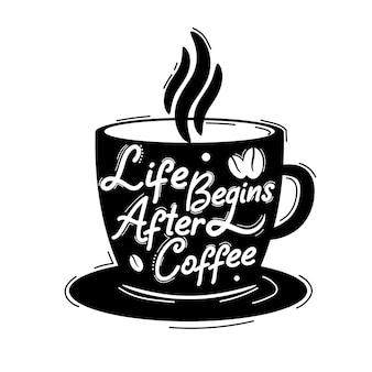 Het leven begint na een koffie