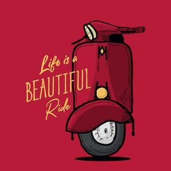 Het leven is een mooie rit