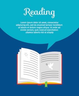 Het lezen van boek concept