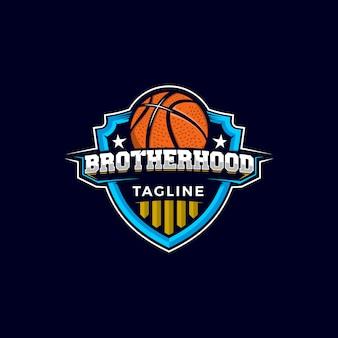Het logo van de basketbalmascot