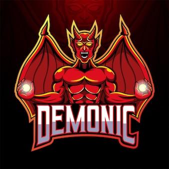 Het logo van de duivel mascotte