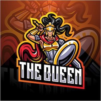 Het logo van de koningin esport mascotte