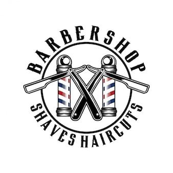 Het logo voor barbershop met vintage stijl