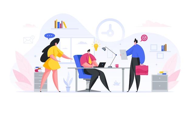 Het marketingteam ontwikkelt een nieuw zakelijk projectconcept