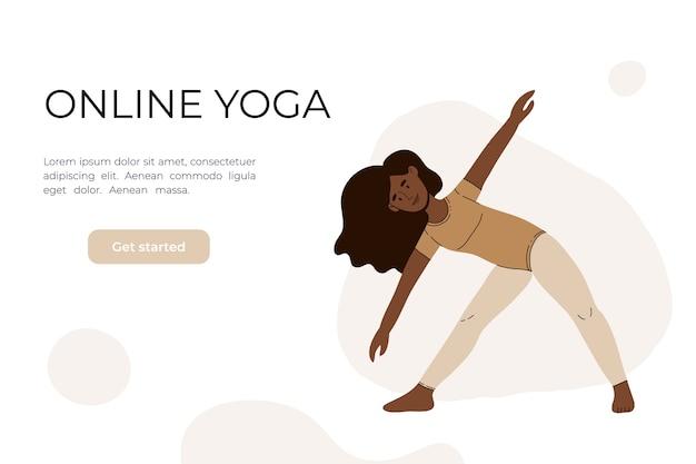 Het meisje doet yoga in de video.