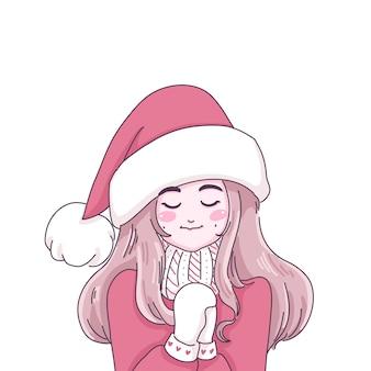 Het meisje wenst