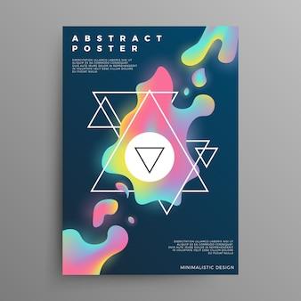 Het mengen van kleurrijke vloeibare vormen vector moderne achtergrond