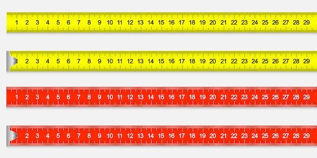 Het meten van heersersband voor hulpmiddelroulette