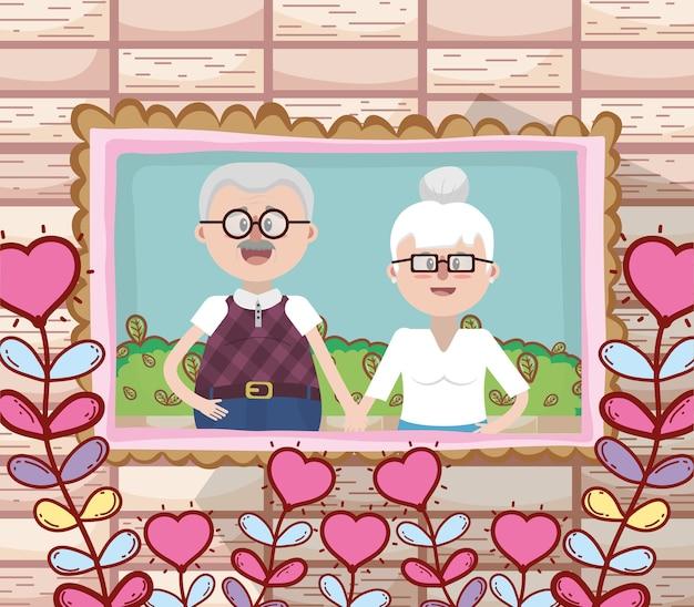 Het mooie paar van grootouders