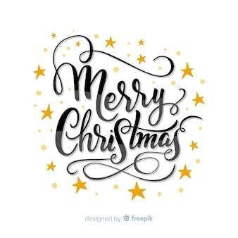 Het mooie vrolijke kerstmis van letters voorzien