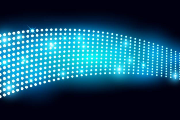Het muur geleide lichte scherm met lightbulp vectorillustratie
