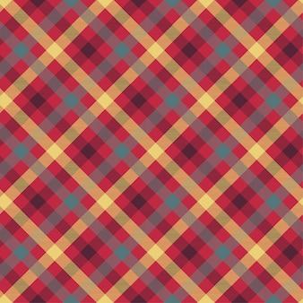 Het naadloze vectorpatroon van de plaid rode kleur
