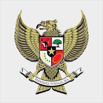 Het nationale embleem van indonesië