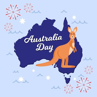 Het nationale ontwerp van het de dagthema van australië