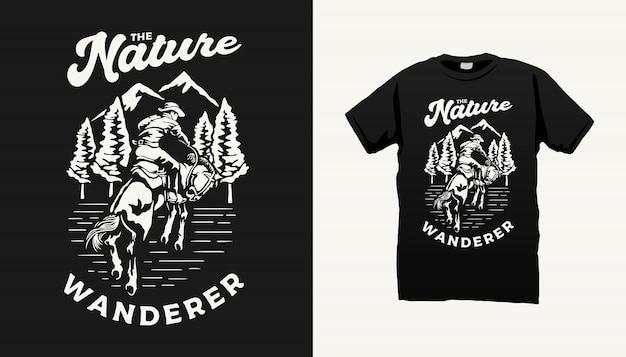 Het nature wanderer tshirt design