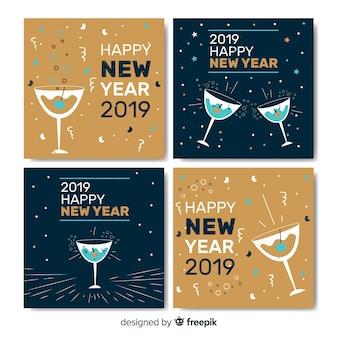 Het nieuwe jaar juicht kaarten toe