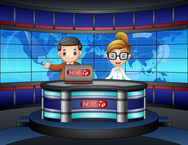 Het nieuwsanker leefde op televisie