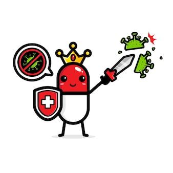 Het ontwerp van de capsule vermindert virussen