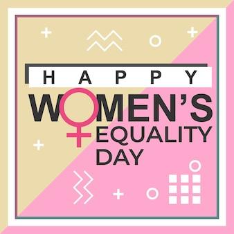 Het ontwerp van de de dagbanner van de gelukkige vrouw gelijkheid