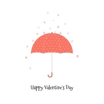 Het ontwerp van de de daggroet van de gelukkige valentijnskaart