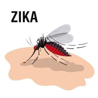 Het ontwerp van het zika-virus