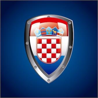 Het ontwerp van kroatië over blauwe vectorillustratie als achtergrond