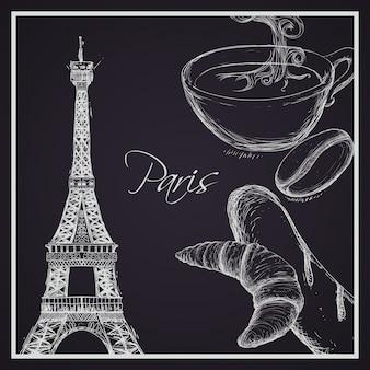 Het ontwerp van parijs, vectorillustratie.