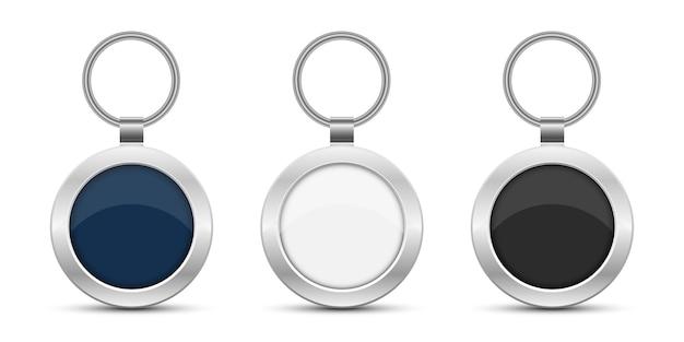Het ontwerpillustratie van keychain die op witte achtergrond wordt geïsoleerd