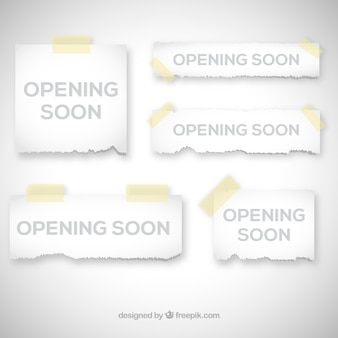 Het openen van spoedig achtergrond met papierteken