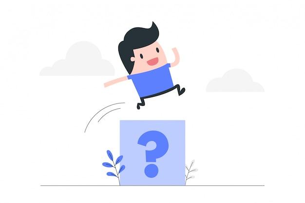 Het oplossen van problemen concept illustratie.
