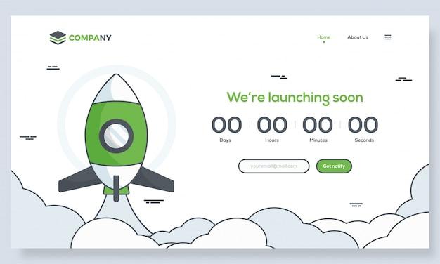 Het opstarten van hero banner afbeelding voor websites of apps.