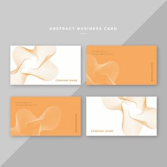 Het organische oranje abstracte ontwerp van de adreskaartjesjabloon