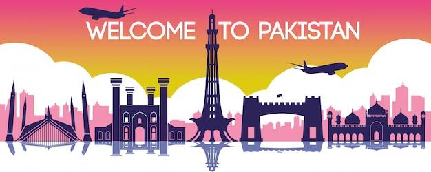 Het oriëntatiepunt van pakistan van hong kong
