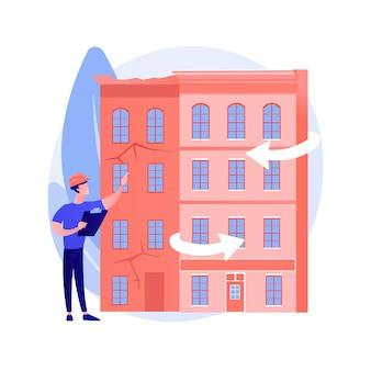 Het oude abstracte concept van de gebouwenmodernisering