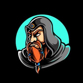 Het oude logo van de witcher-sportmascotte