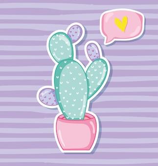 Het pastelkleur grafische ontwerp van de pastelkleurencactus vectorillustratie