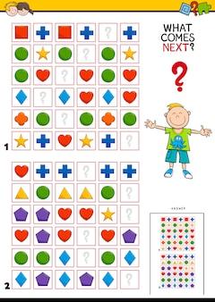Het patroon in het educatieve spel rijen voltooien