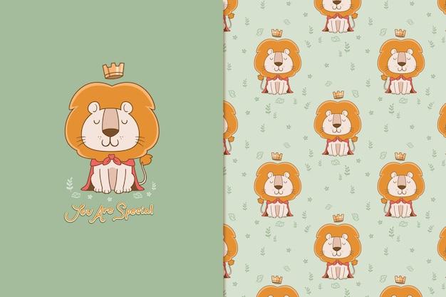 Het patroon van de leeuwenkoning