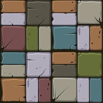 Het patroon van gekleurde stenen tegels