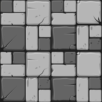 Het patroon van grijze stenen tegels
