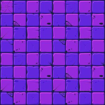 Het patroon van neon stenen tegels, naadloze achtergrond stenen muur.