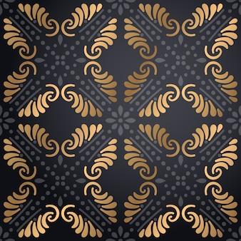 Het patroonachtergrond van luxe siermandala