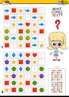 Het pattern in rows educational game voltooien