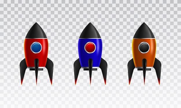 Het pictogram van de rocket-collectie 3d