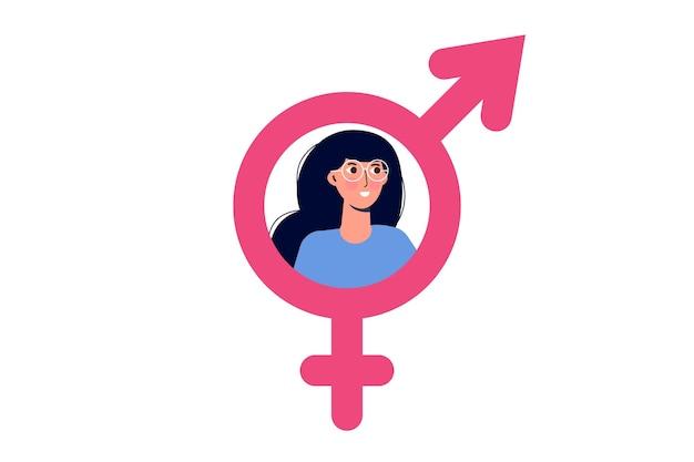 Het pictogram van het seksuoloogoverleg, psychologische seksuele problemen en gezondheid. vector illustratie.