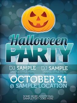 Het poster van de de partijposter van halloween