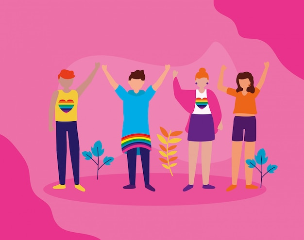 Het queer community lgbtq ontwerp