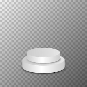 Het rangschikken van podium op de transparante achtergrond vector.