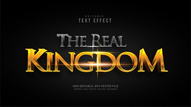 Het real kingdom text effect