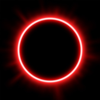 Het rode licht achter de eclips